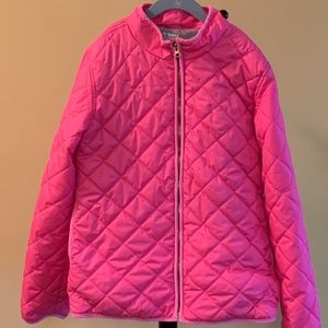 Old Navy Girls Pink Quilted Barn Coat